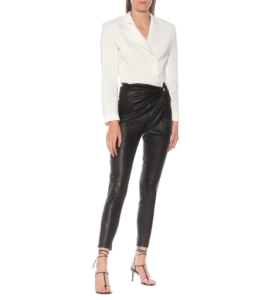 Stretch-cotton hybrid bodysuit by Unravel