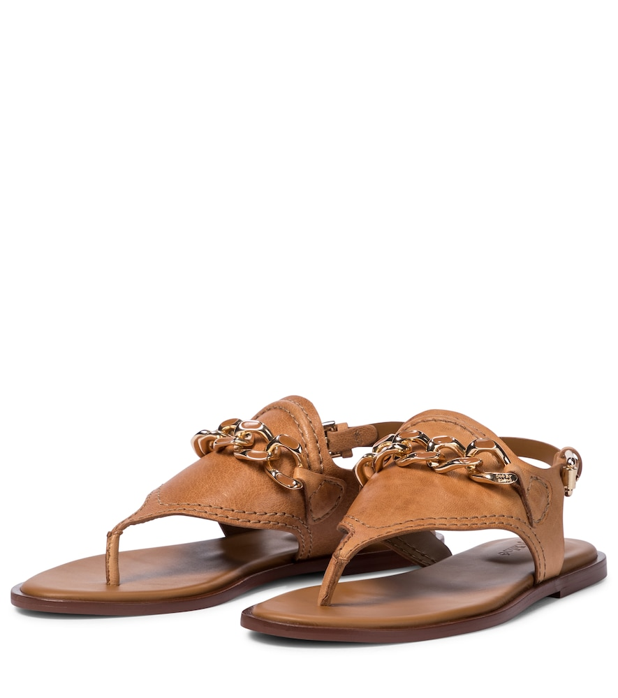 SEE BY CHLOÉ Leathers MAHE LEATHER THONG SANDALS