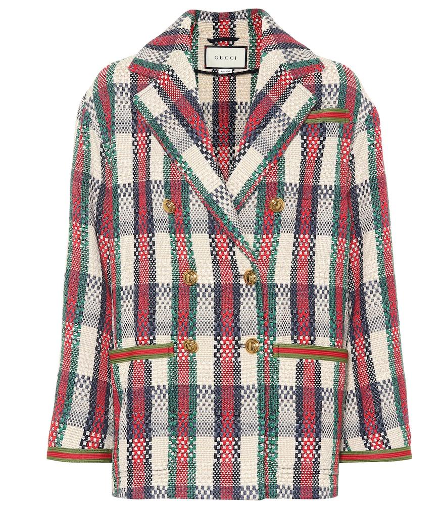 GUCCI | Cotton-blend woven jacket | Goxip