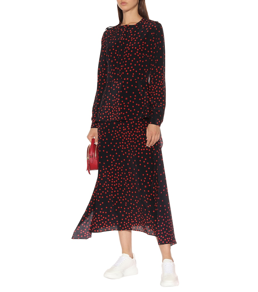 Polka-dot silk-crêpe maxi dress by Stella McCartney