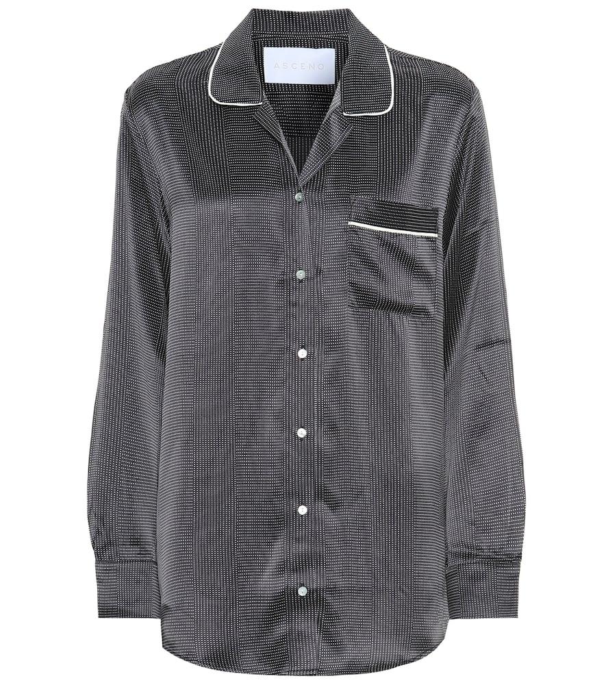 Chemise de pyjama en soie