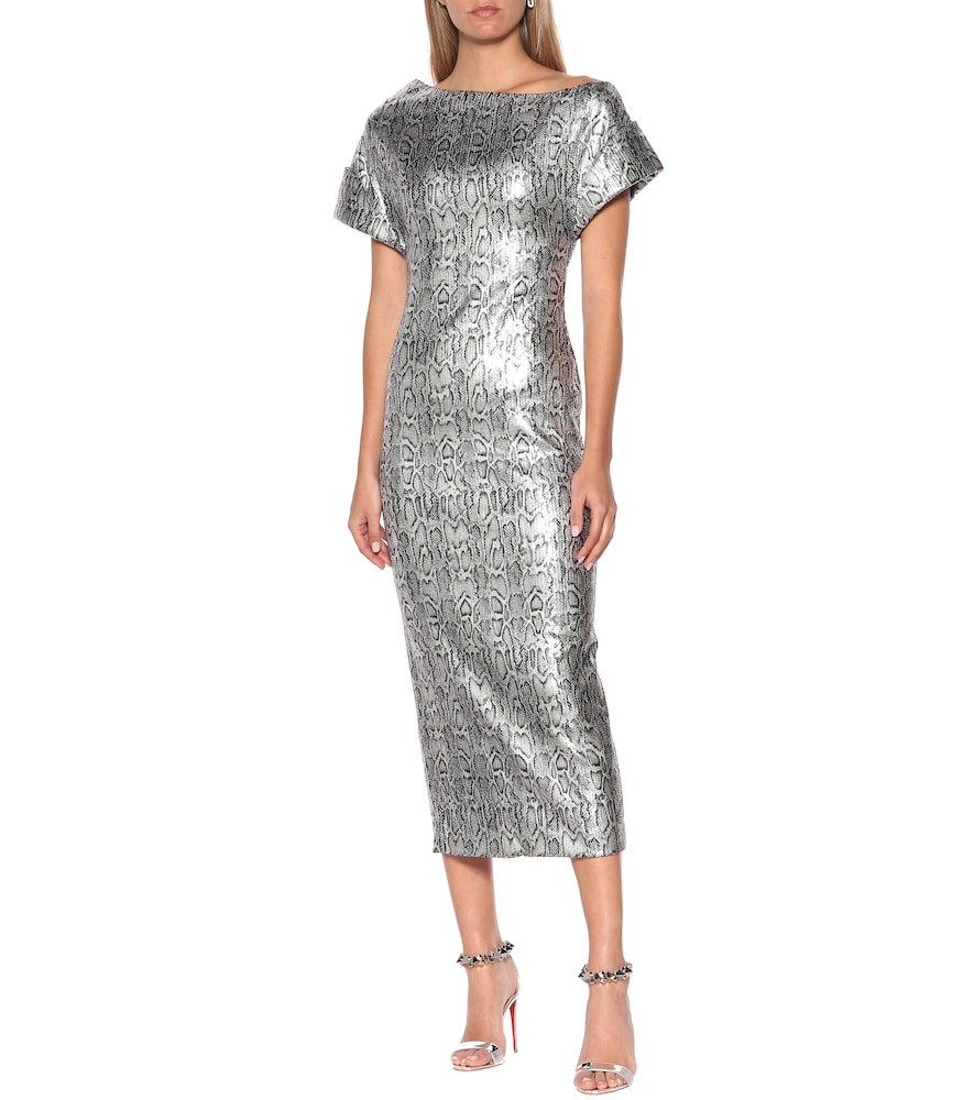 Sequined snake-print maxi dress by Christopher Kane