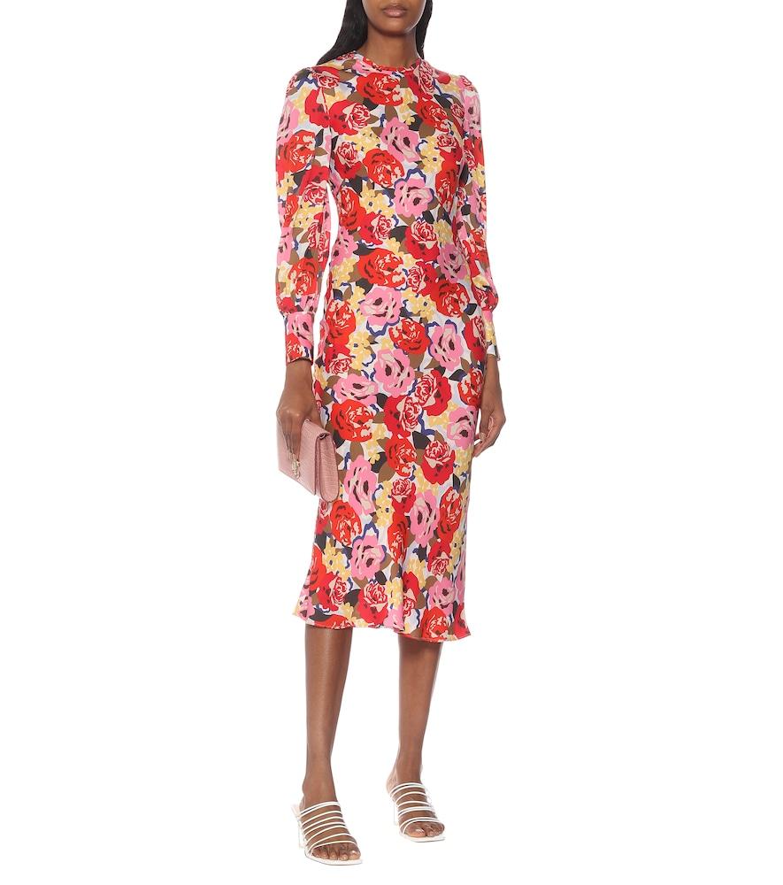 Blume crêpe midi dress by Rebecca Vallance