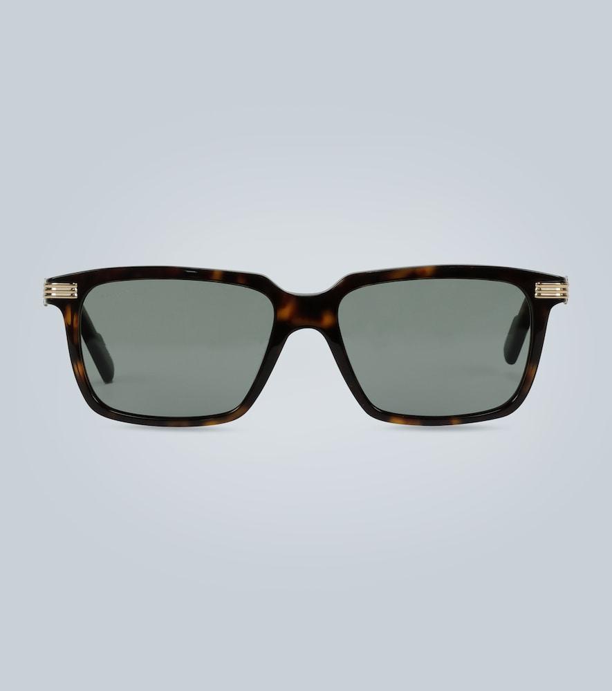 Lunettes de soleil écaille de tortue - Cartier Eyewear Collection - Modalova