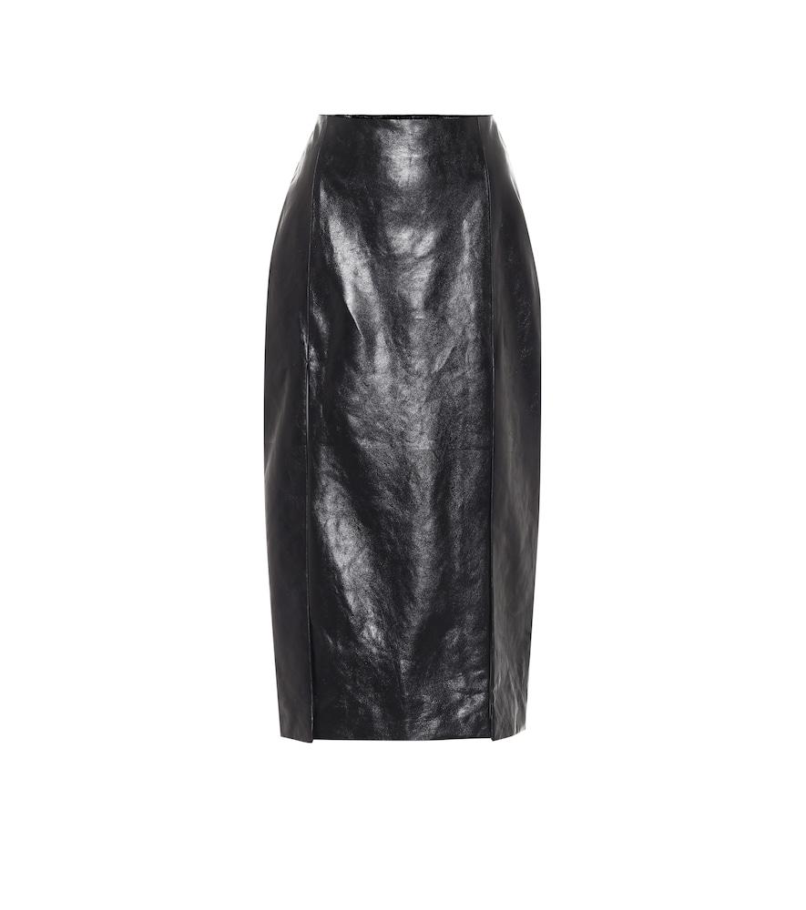 Jupe crayon à taille haute en cuir - Gucci - Modalova
