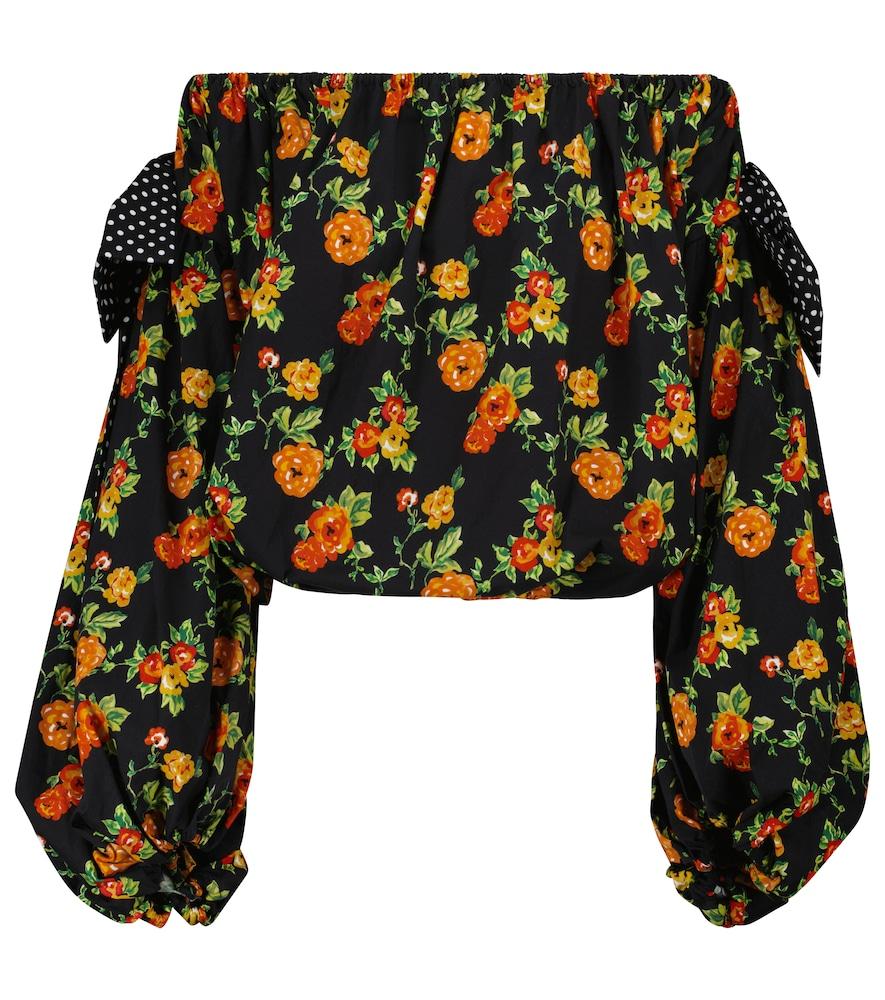 Mason floral off-shoulder top