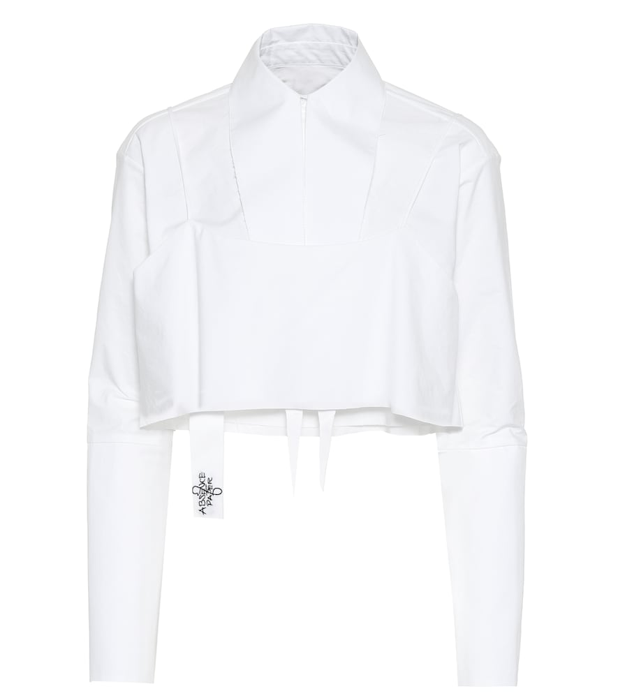 ABSENCE OF PAPER Layer Cake Cotton Shirt in White