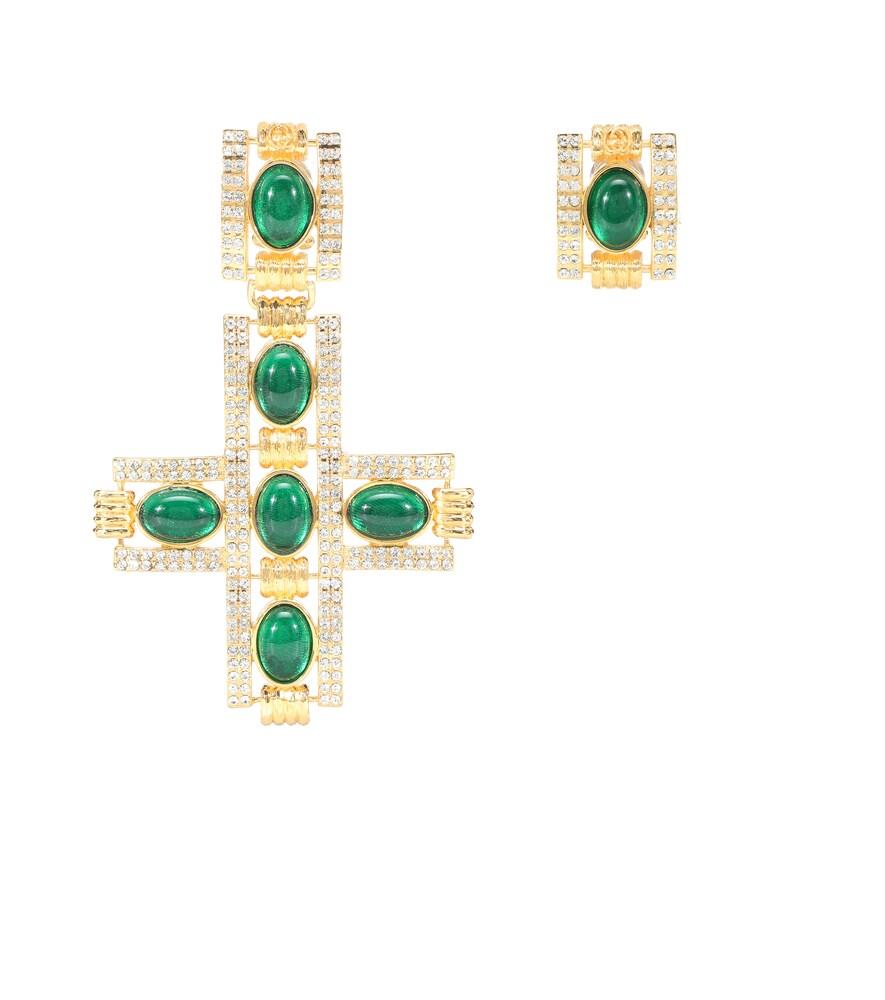 Boucles d'oreilles clip à ornements - Gucci - Modalova