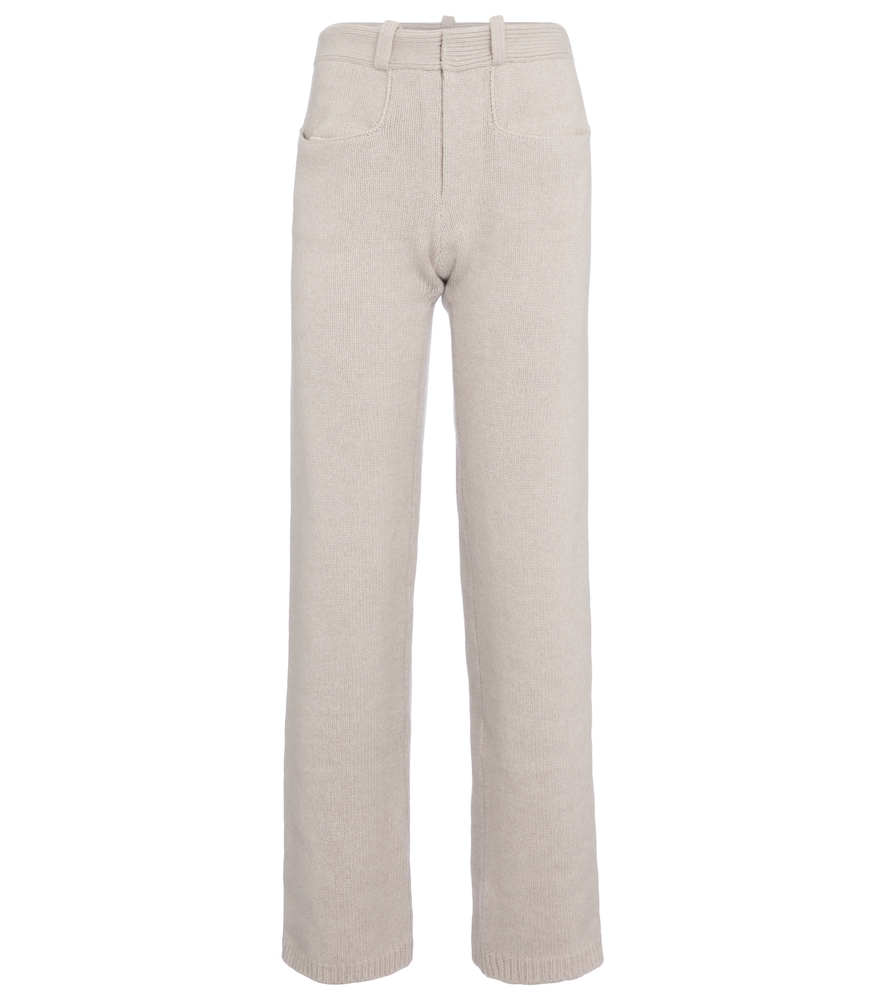 Pearl wool and cashmere pants