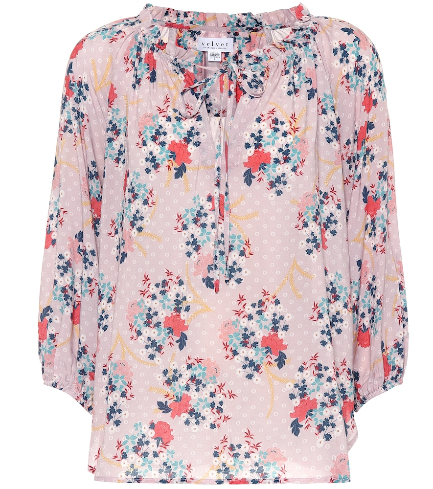 Sharla floral printed top