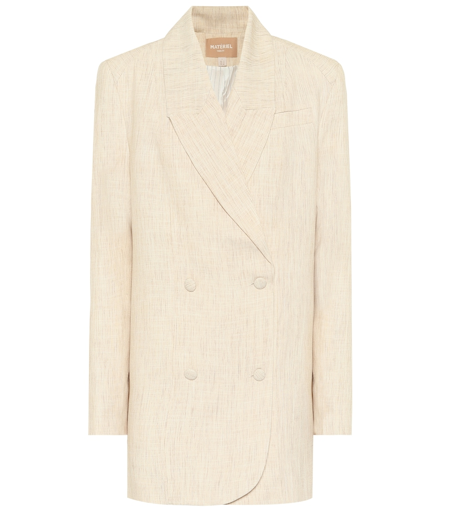 Double-breasted twill blazer by Mat?iel Tbilisi