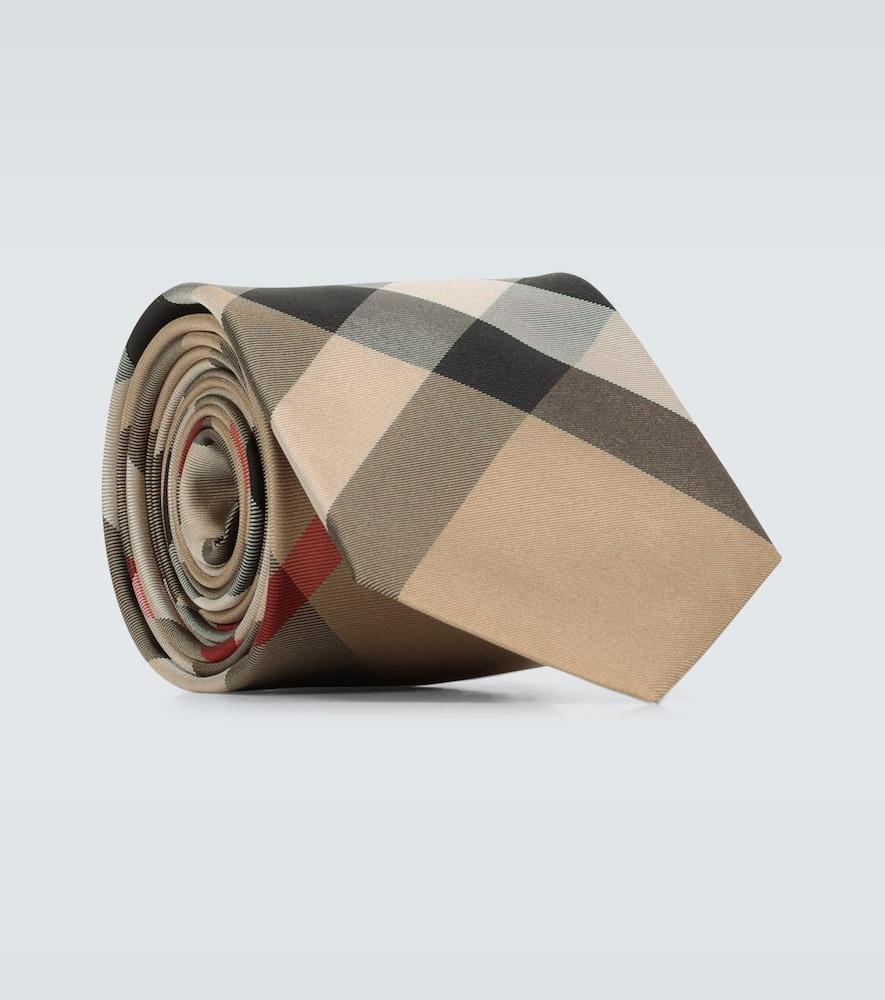 Cravate à carreaux Monston en soie