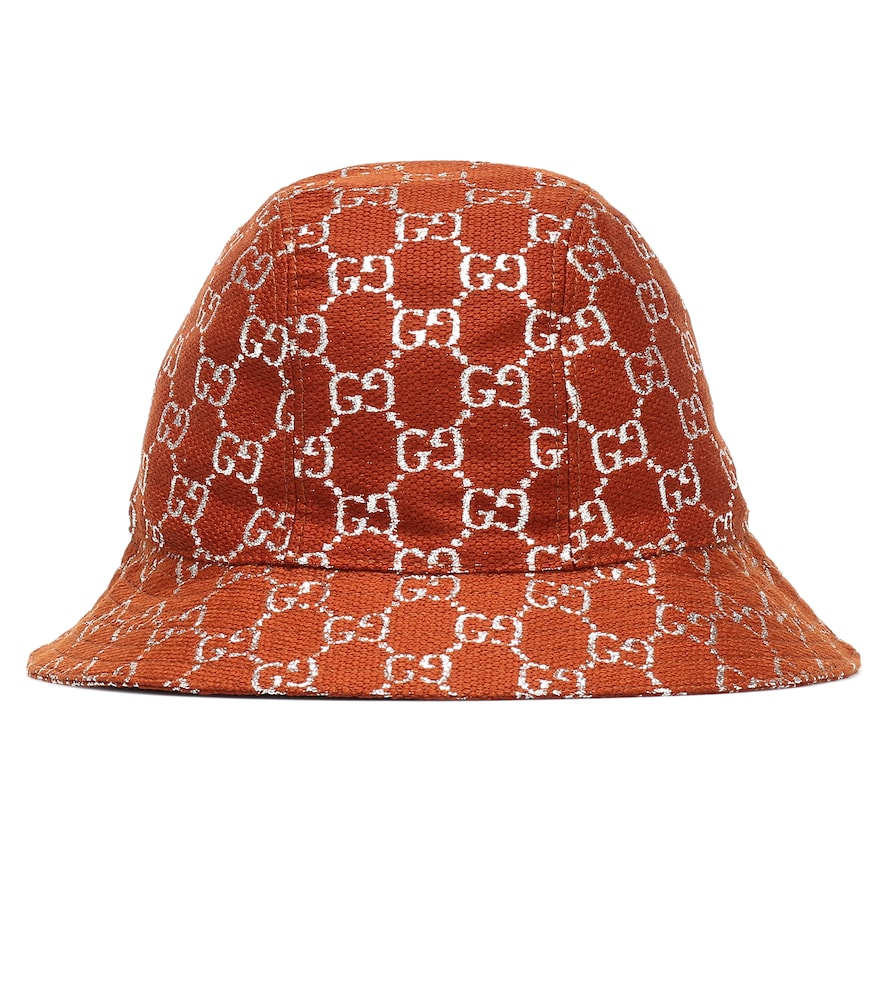 GG lamé wool-blend bucket hat