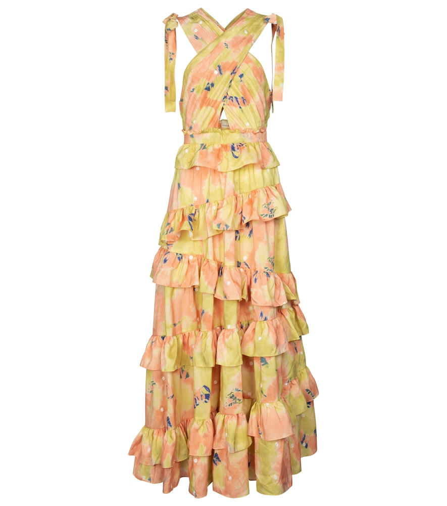 Ulla Johnson ZAHRA PRINTED SILK GOWN