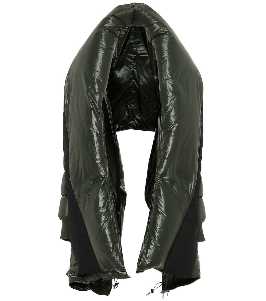 Puffer cape coat