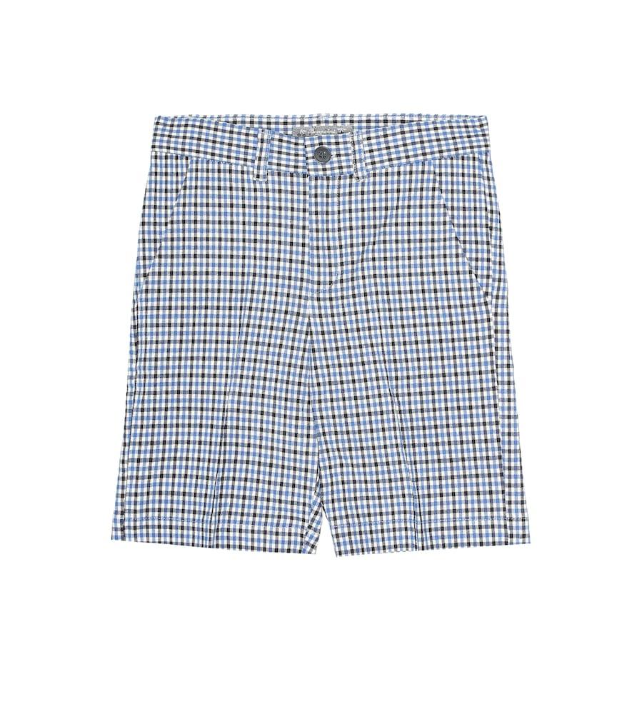Short Calvin en coton et lin mélangés