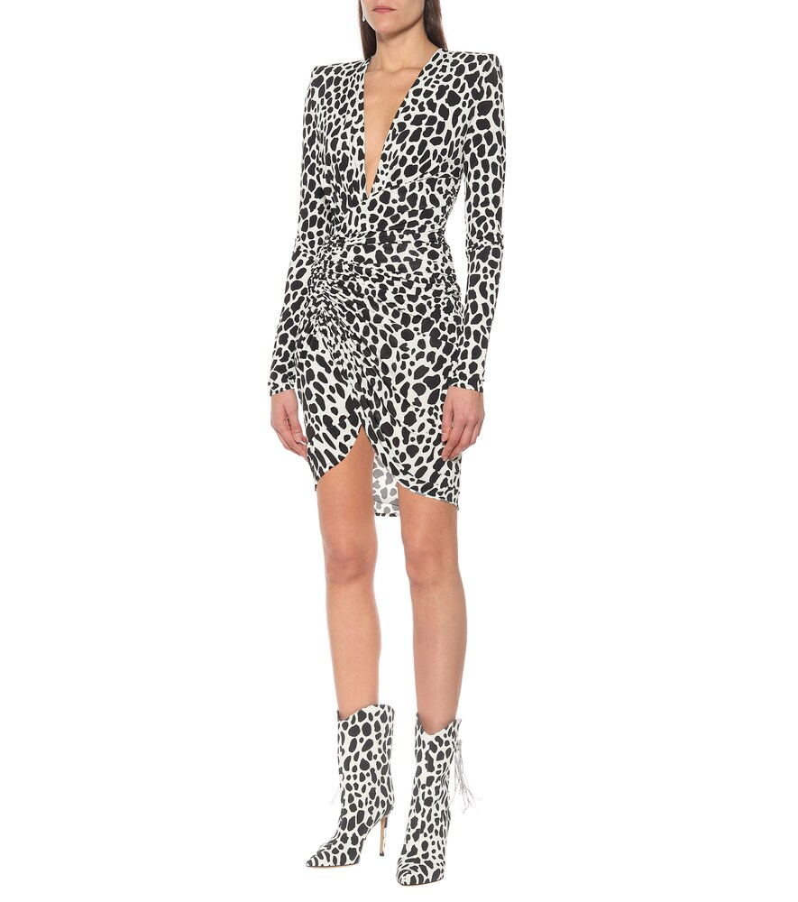 Exclusive to Mytheresa - Animal-print stretch-jersey minidress by Alexandre Vauthier