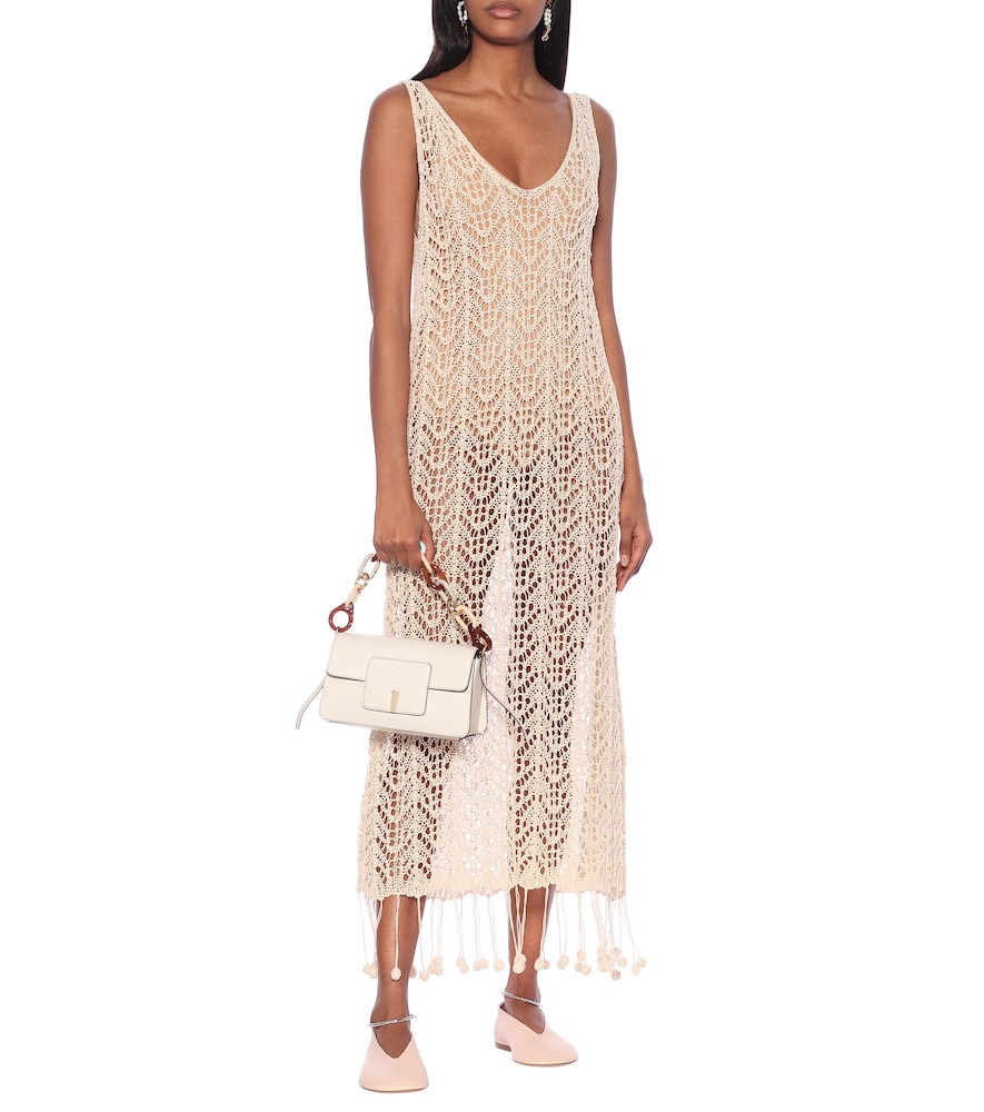 Crocheted cotton midi dress by Jil Sander