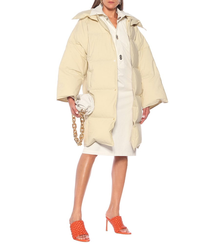 Quilted cotton down puffer coat by Bottega Veneta
