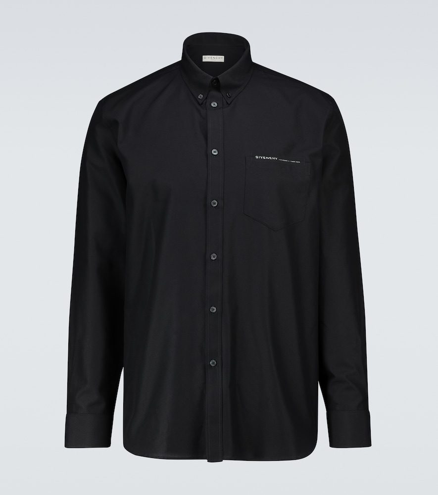 Givenchy COTTON OXFORD SHIRT WITH WEBBING