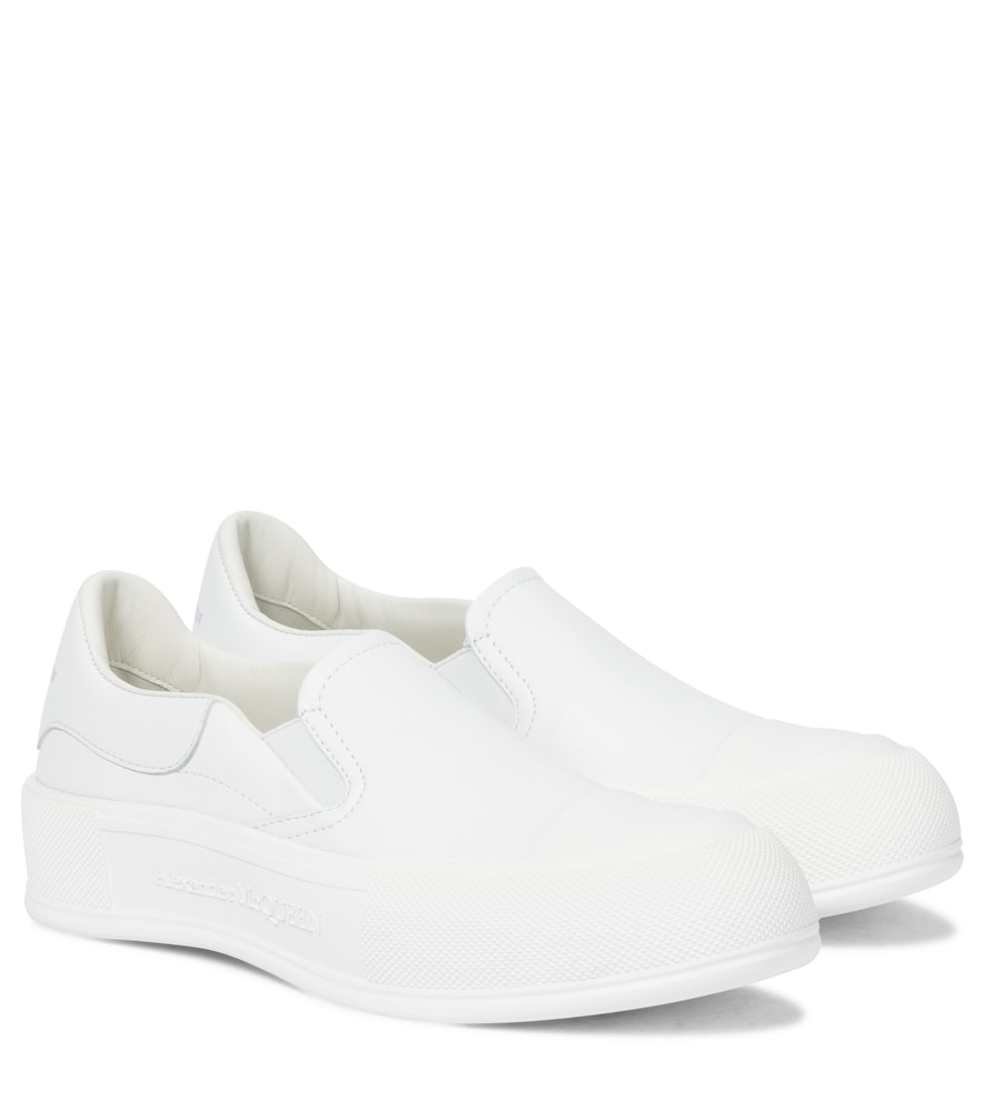 Deck Plimsoll leather sneakers
