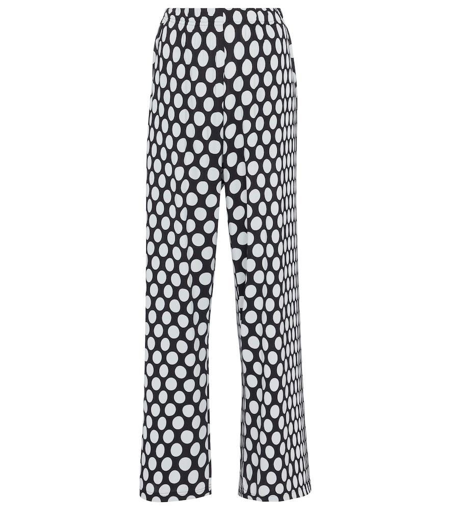 Mm6 Maison Margiela Wide leg pants POLKA-DOT HIGH-RISE WIDE-LEG PANTS