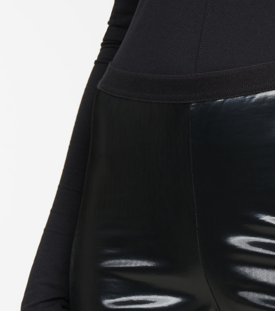 RICK OWENS Cottons LILIES COATED STRETCH-COTTON LEGGINGS