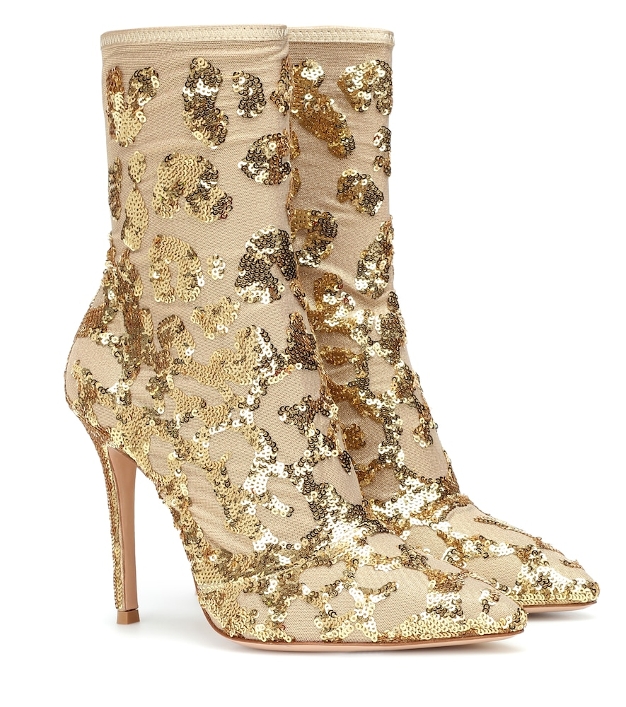 Exclusive To Mytheresa - Daze Sequined Ankle Boots, Gold