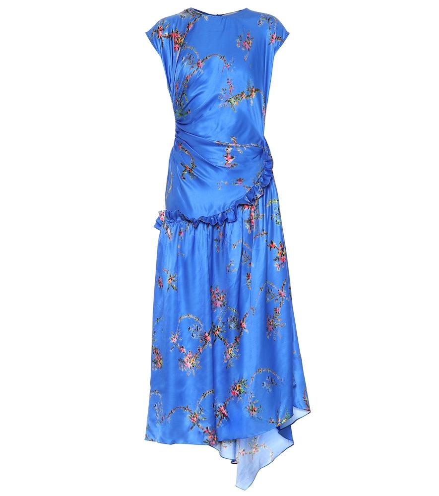 Andrea floral satin midi dress