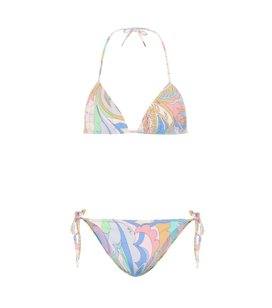 EMILIO PUCCI BEACH Printed Triangle Bikini in Multicoloured