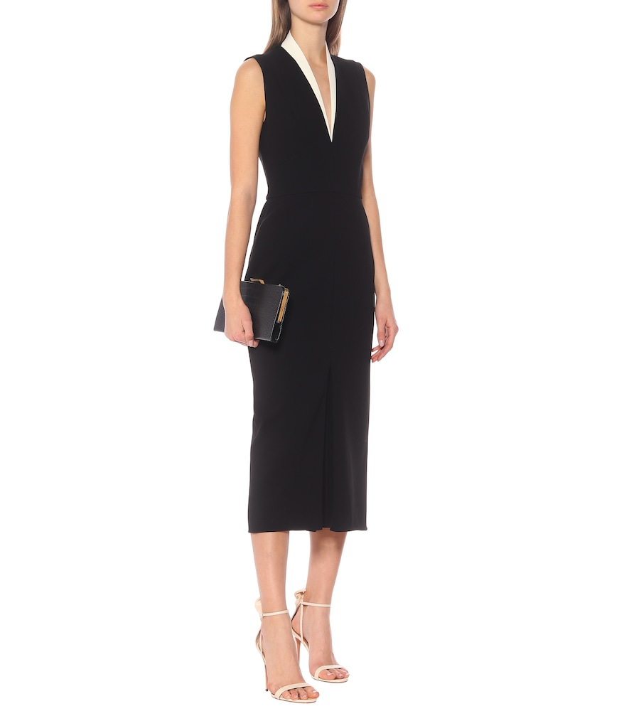 Tuxedo crêpe midi dress by Victoria Beckham