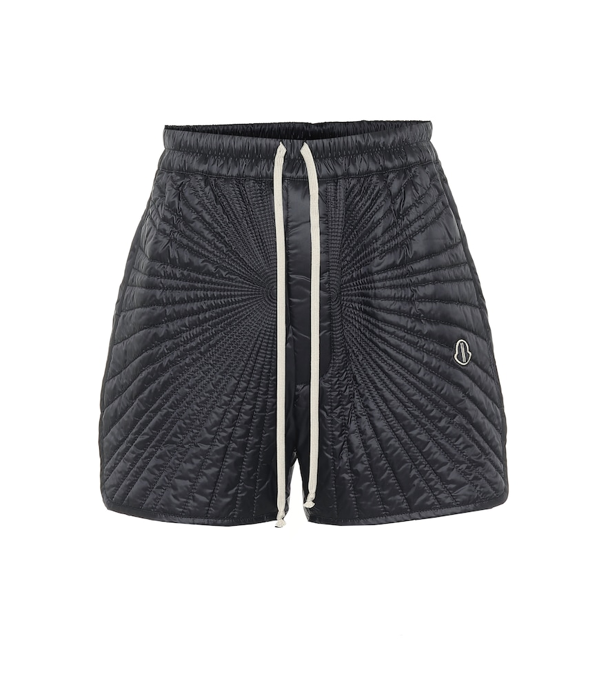Rick Owens X MONCLER QUILTED SHORTS