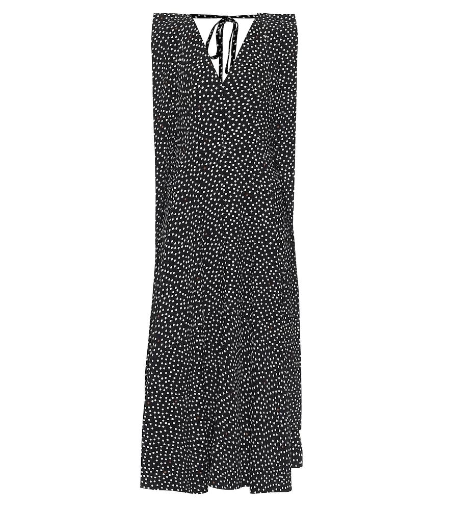 Polka-dot stretch-cady midi dress by Victoria Beckham