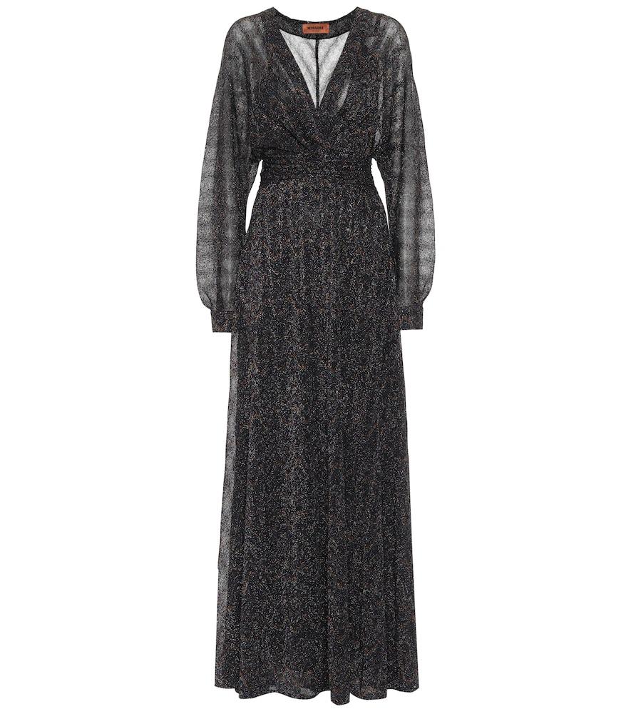 Stretch-silk lam?maxi dress by Missoni