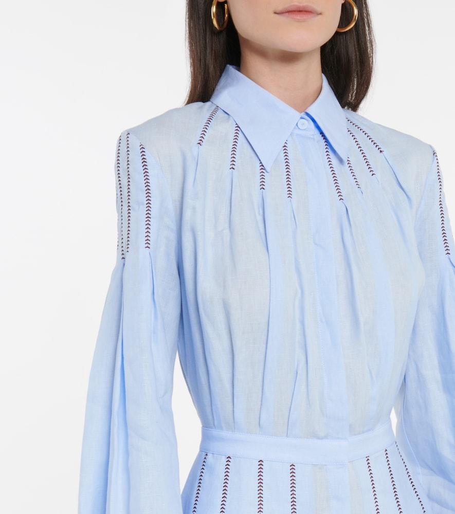 GABRIELA HEARST Maxi dresses WATKINS LINEN SHIRT DRESS