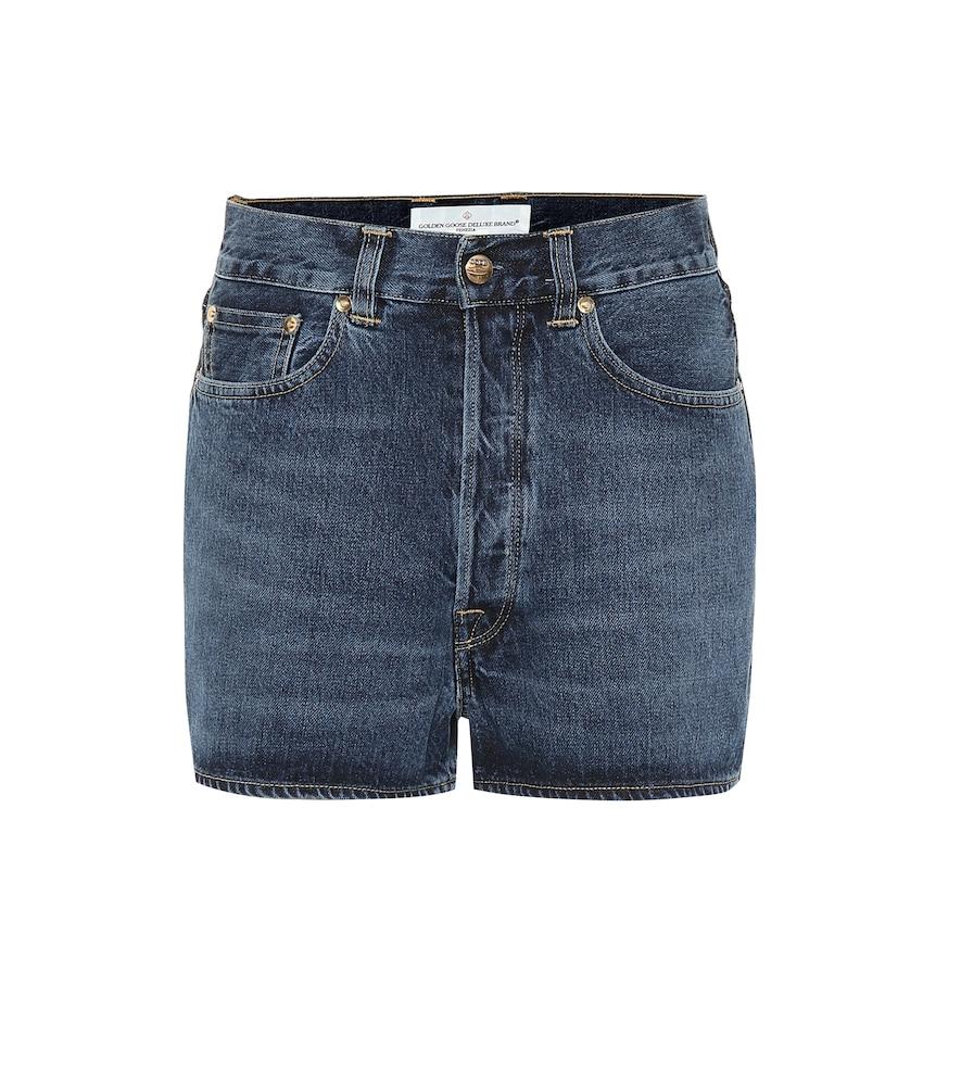 Judy high-rise denim shorts