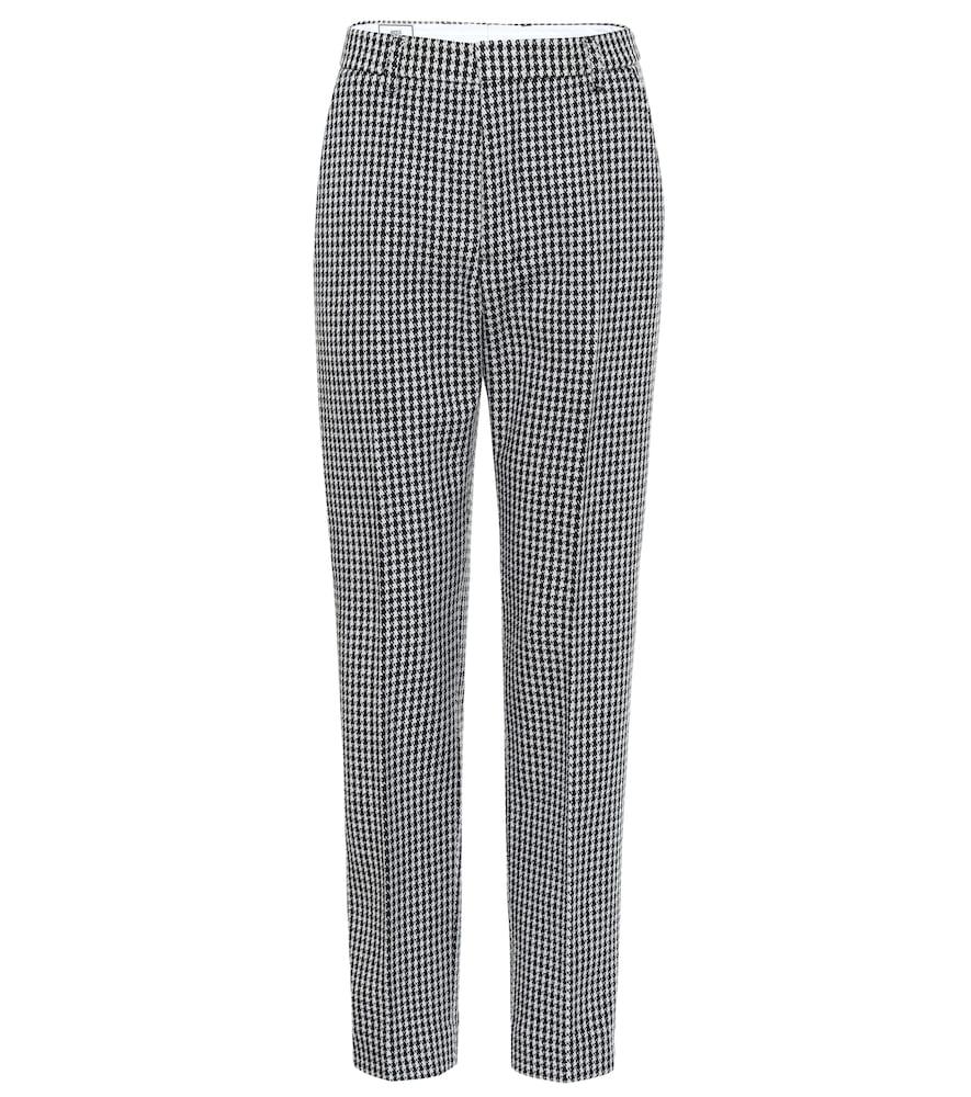 Pantalon en laine mélangée à carreaux - AMI - Modalova