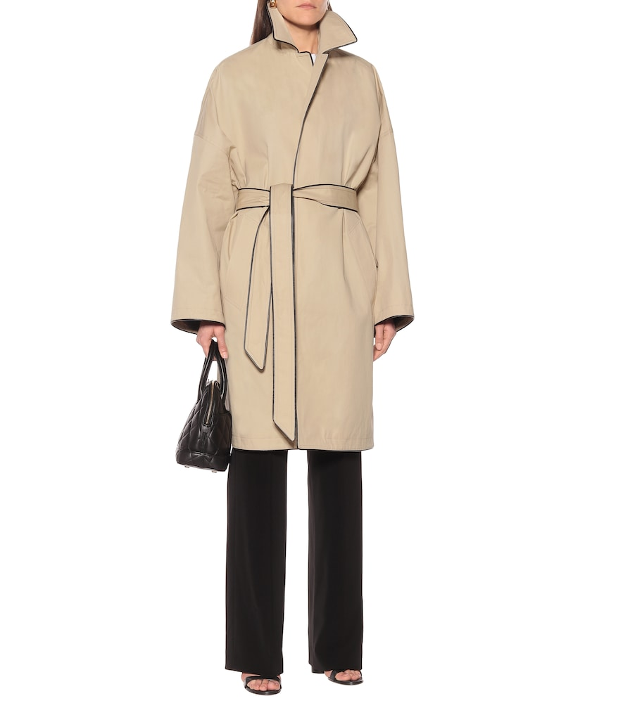 Belted cotton-twill coat by Balenciaga