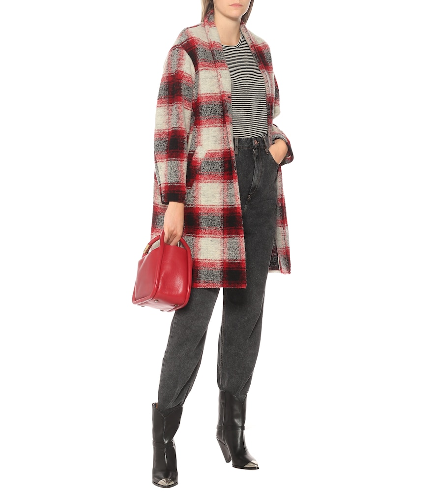 Gabriel checked wool-blend coat by Isabel Marant, Étoile