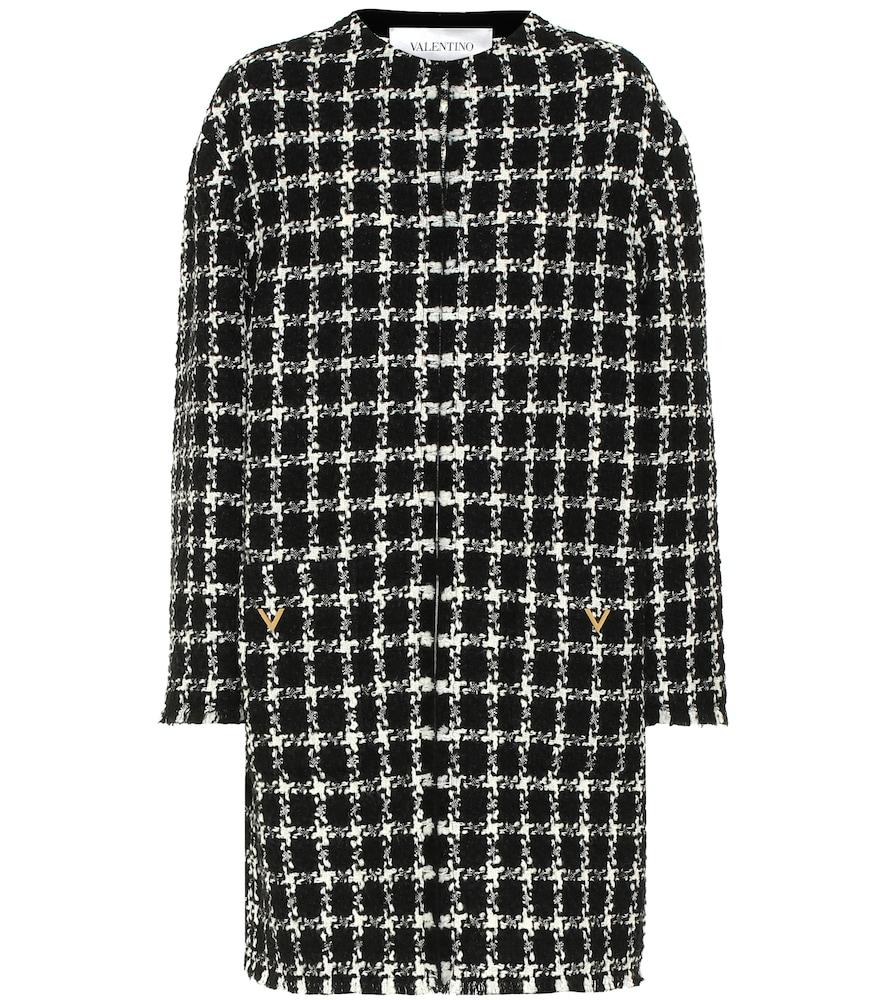 Valentino tweed virgin wool-blend coat