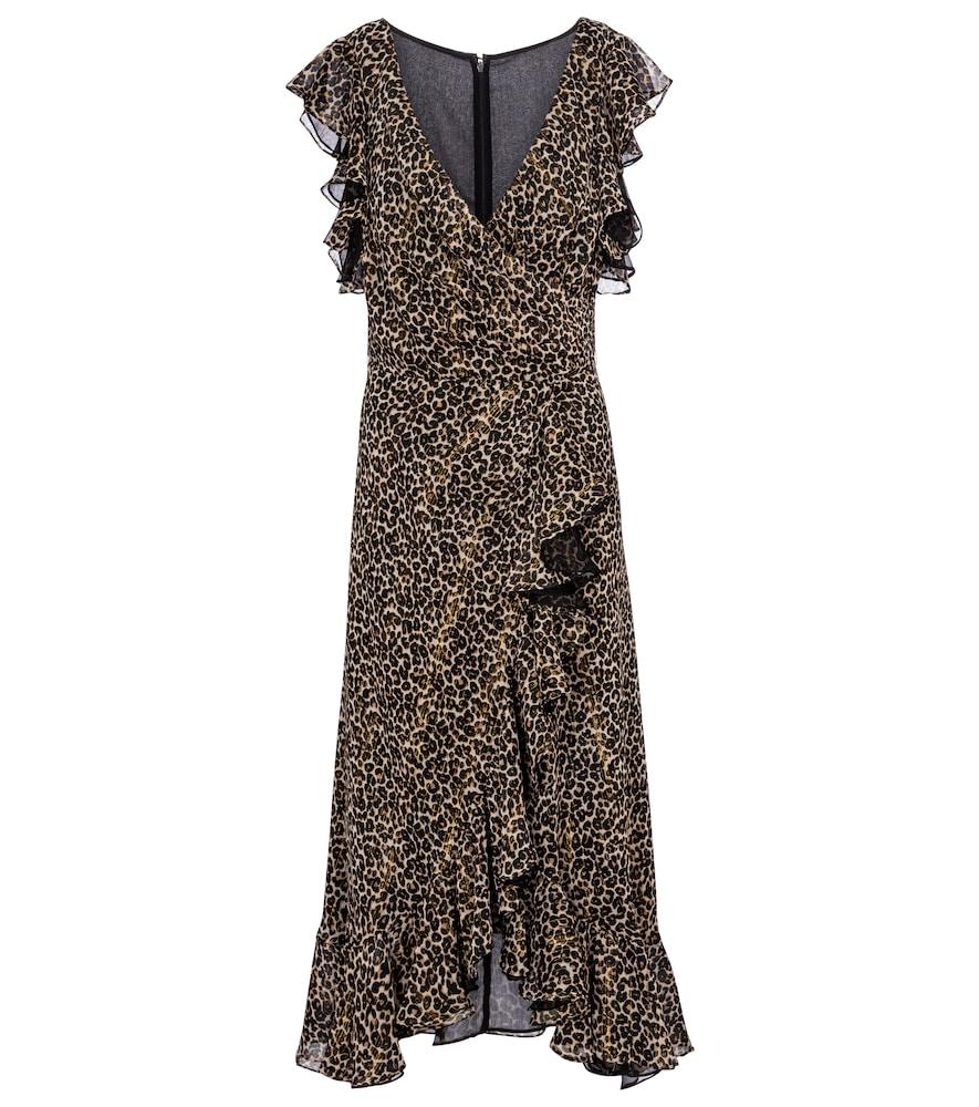 Jolecia leopard-print chiffon wrap dress