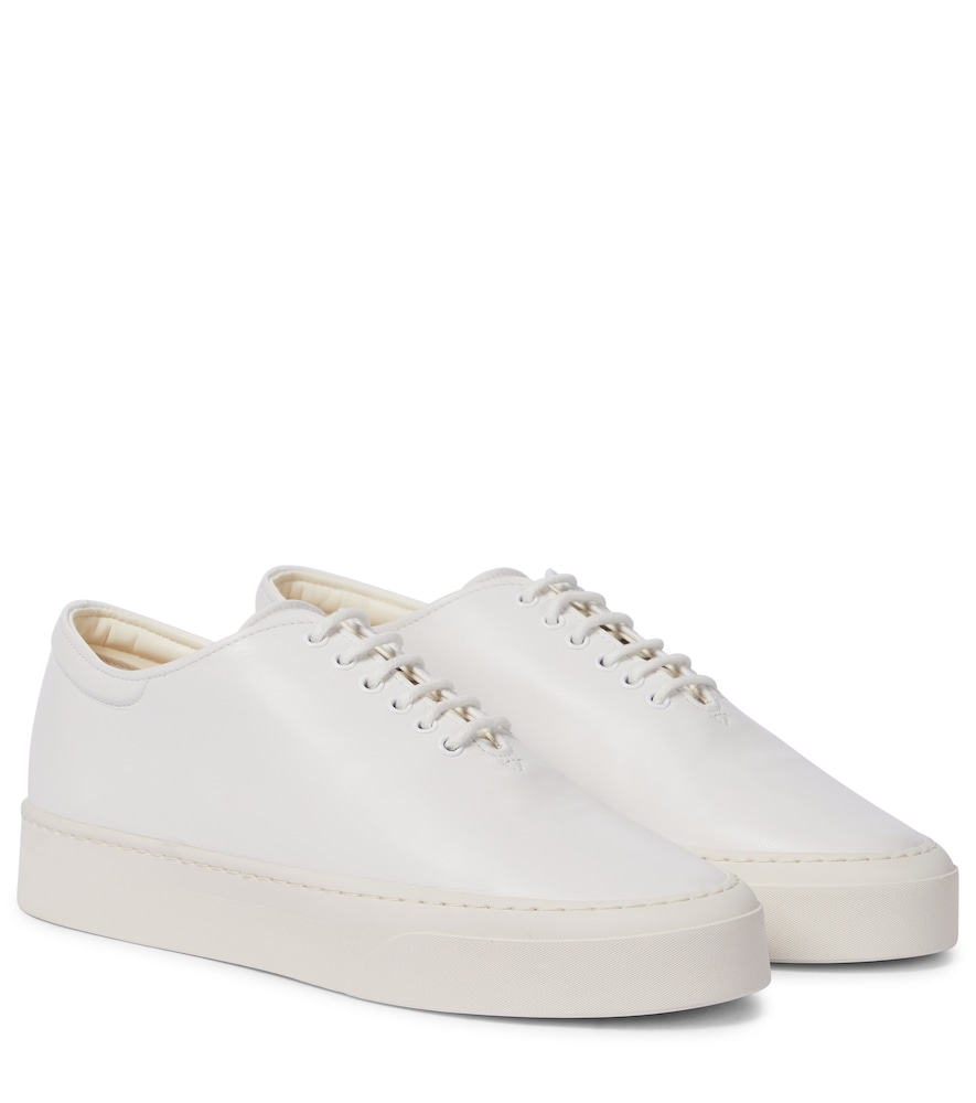 The Row Leathers MARY H LEATHER SNEAKERS