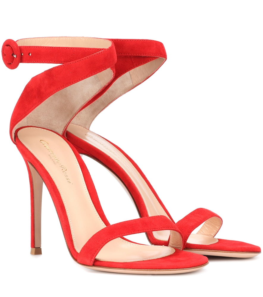 GIANVITO ROSSI EXCLUSIVE TO MYTHERESA.COM - CROSS STRAP SUEDE SANDALS