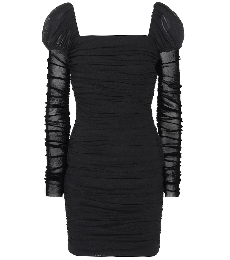 Frenchie Ruched Minidress in Black