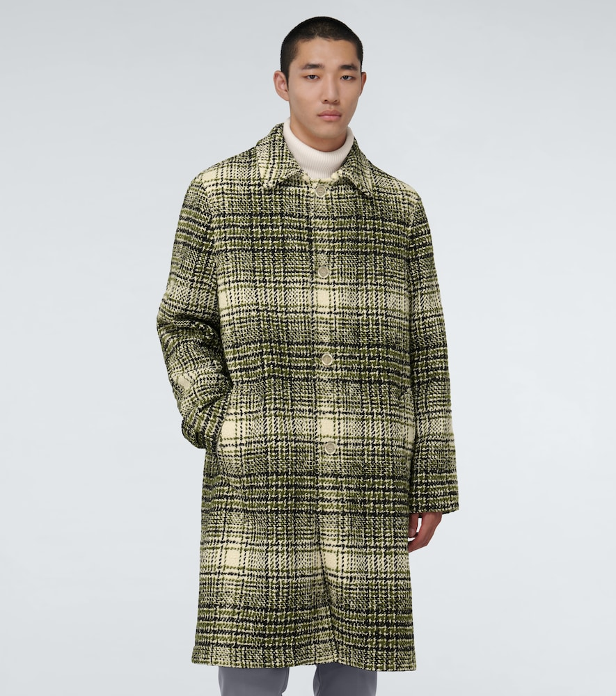 MARNI Cottons VINTAGE-INSPIRED CHECKED OVERCOAT