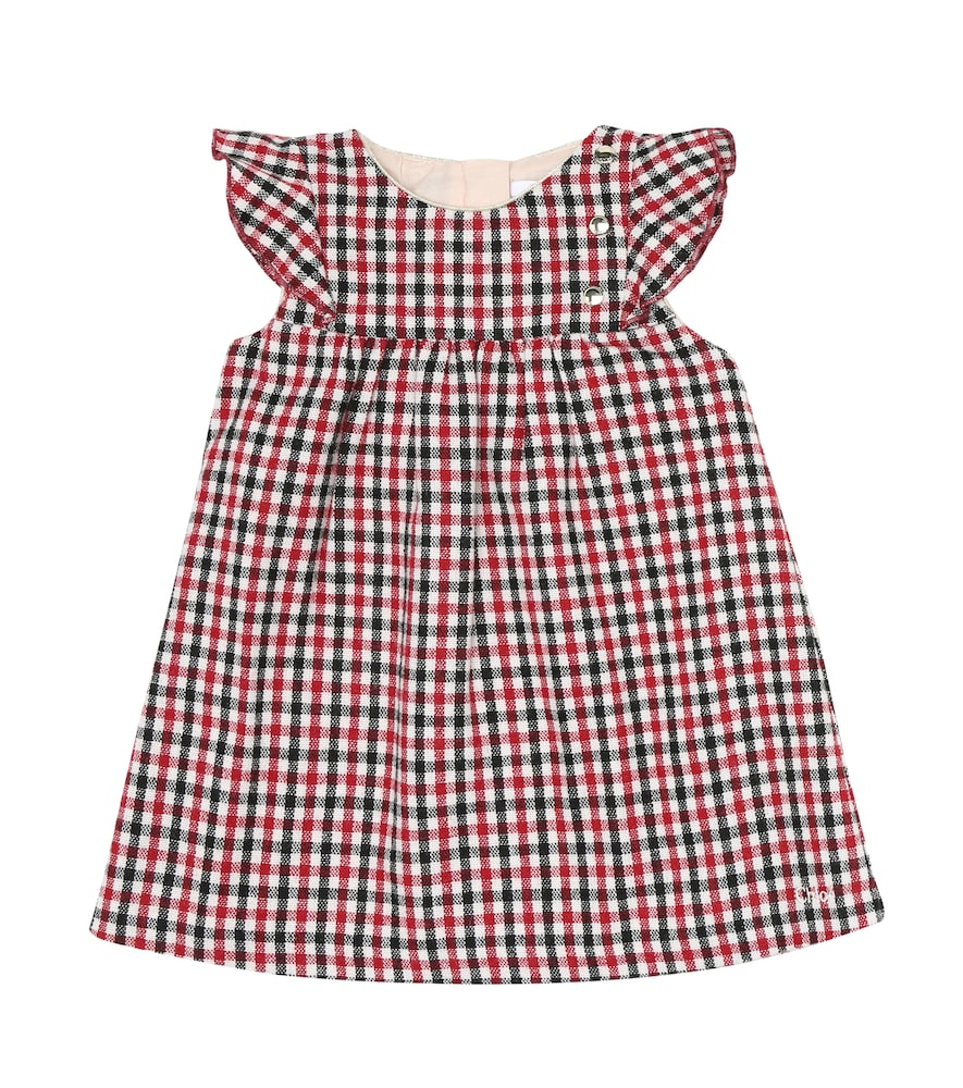 Chloé BABY COTTON AND WOOL-BLEND DRESS