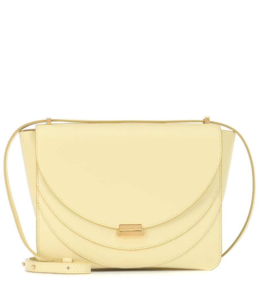 Wandler Luna Leather Shoulder Bag In Yellow