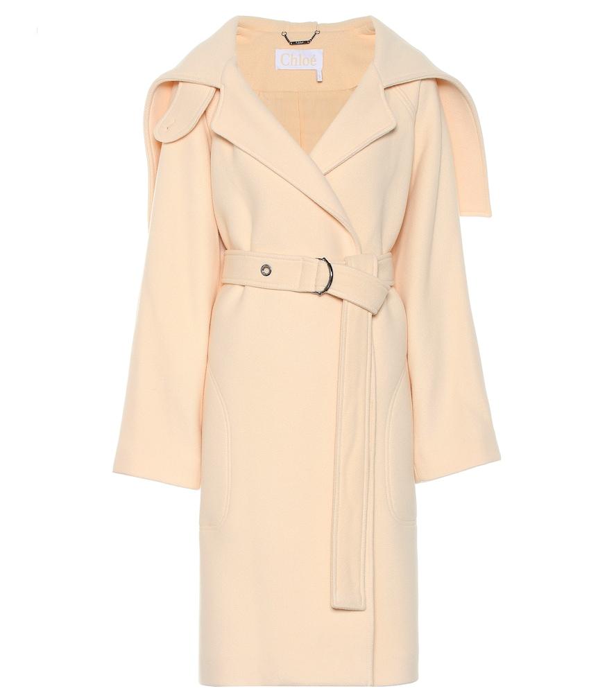 Manteau en laine mélangée - Chloé - Modalova