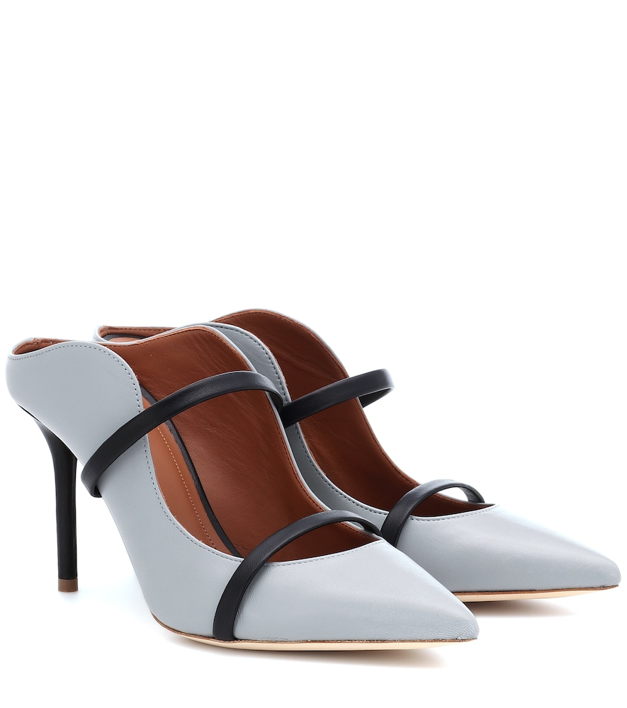 MALONE SOULIERS | Maureen 85 Leather Mules | Goxip