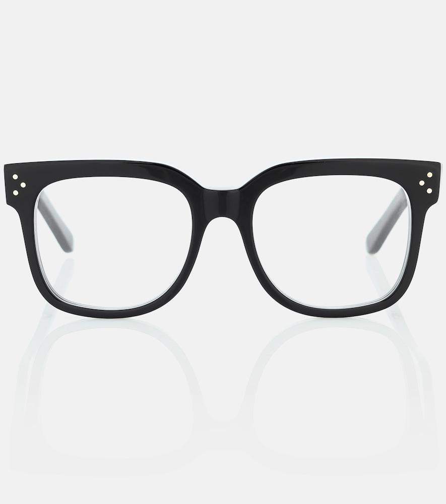 Square acetate glasses